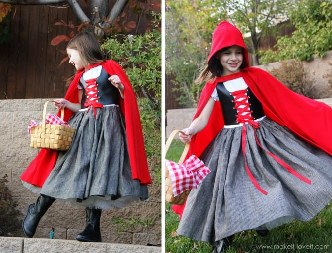 Diy Little Red Riding Hood Costume Youtube